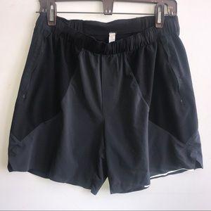 LULULEMON black mesh surge shorts Large mesh